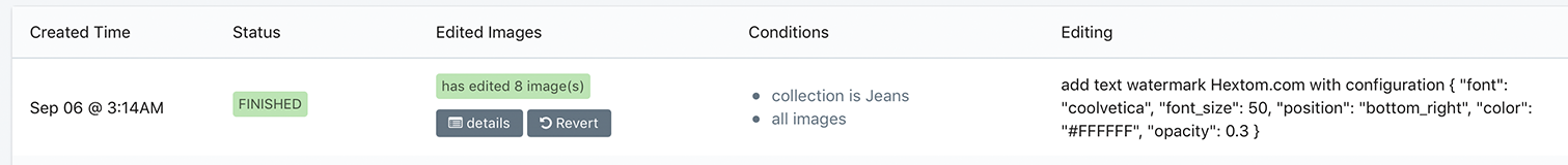 bulk image edit conditions